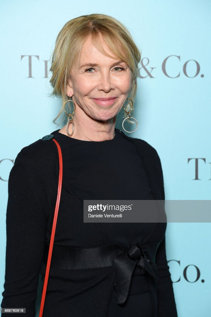 Trudy Styler attends Tiffany & Co Gala Dinner for 'Please Stand By' movie at Hotel Bernini on October 31, 2017 in Rome, Italy.