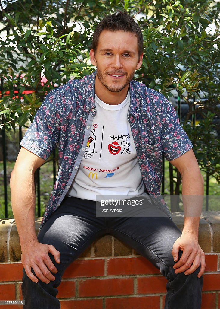 True Blood star Ryan Kwanten visits families with seriously ill children at Ronald McDonald House Randwick on October 17 2014 in Sydney Australia