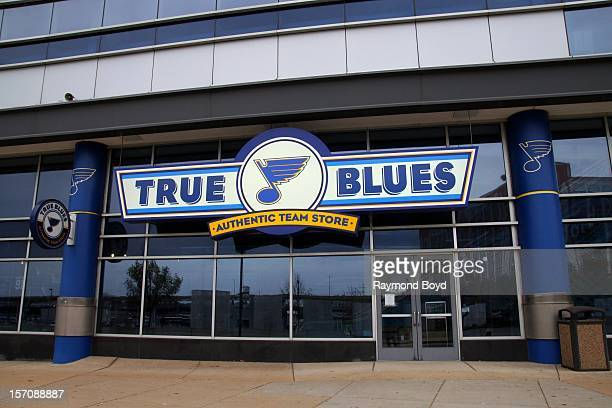 True Blues Authentic Team Store at Scottrade Center home of the St Louis Blues in St Louis Missouri on NOVEMBER 03 2012