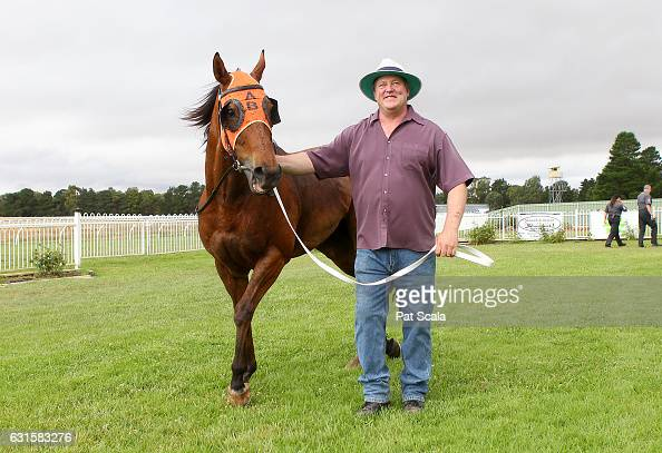 True Brave after winning Ord Motorcycles Ararat BM58 Handicapat Ararat Racecourse on January 13 2017 in Ararat Australia