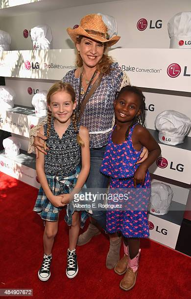 True Harlow FisherDuddy actress Joely Fisher and Olivia Luna FisherDuddy attend Eva Longoria and LG Electronics Host 'Fam To Table' Series at The...