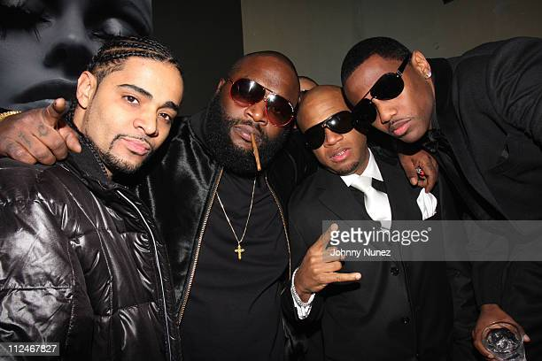 True Life Rick Ross Red Cafe and Fabolous attend Fabolous' birthday celebration at Club Centurion on November 18 2008 in New York City