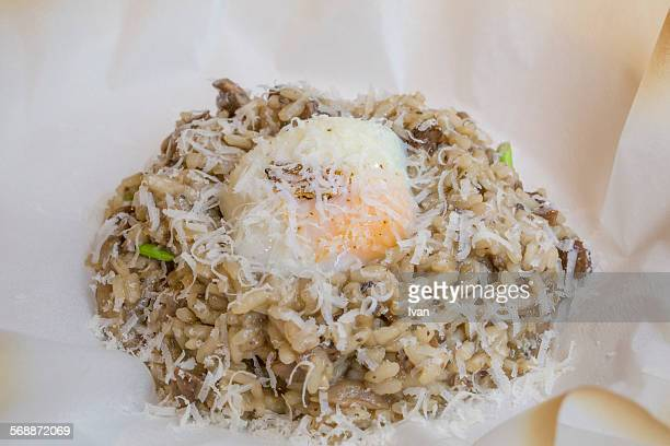 Truffle Risotto with Poached Egg and Parmesan