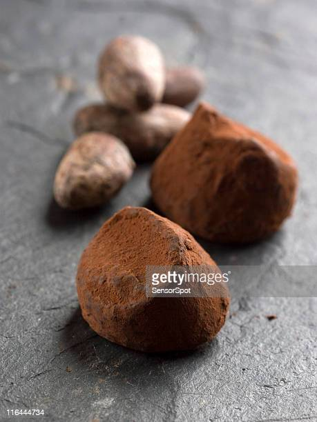 Truffles and cocoa beans