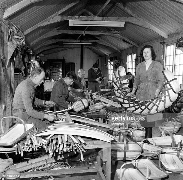 Trug Makers at Herstmonceux East Sussex the local industry is the making of the famous Sussex Trug Baskets The trugs are handmade from willow board...