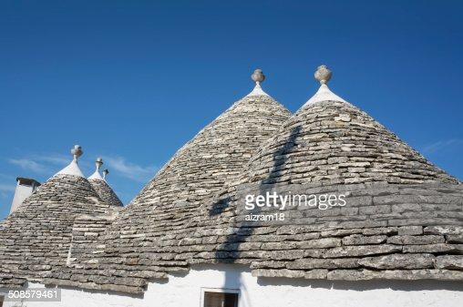 Trulli Alberobello Puglia,  Italy : Stockfoto