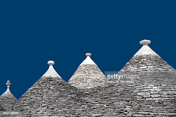 Trulli Roofs in Alberobello, Italy.