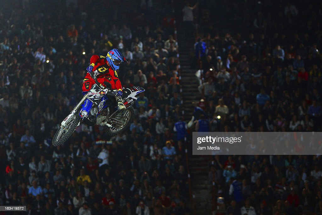 Truman Carroll during the Red Bull X-Fighters in Plaza Mexico on march 08, 2013 in Mexico City, Mexico.