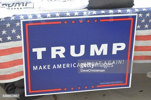 Trump sign : Stock Photo