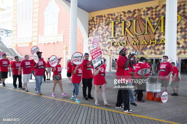 Trump Taj Mahal Union Workers Strike