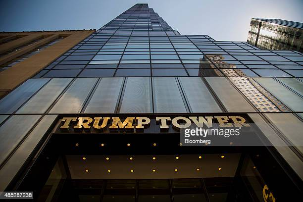 Trump Tower owned by Trump Organization Inc Chief Executive Officer and 2016 Republican presidential candidate Donald Trump stands in New York US on...