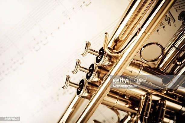 Trompete und Notizen
