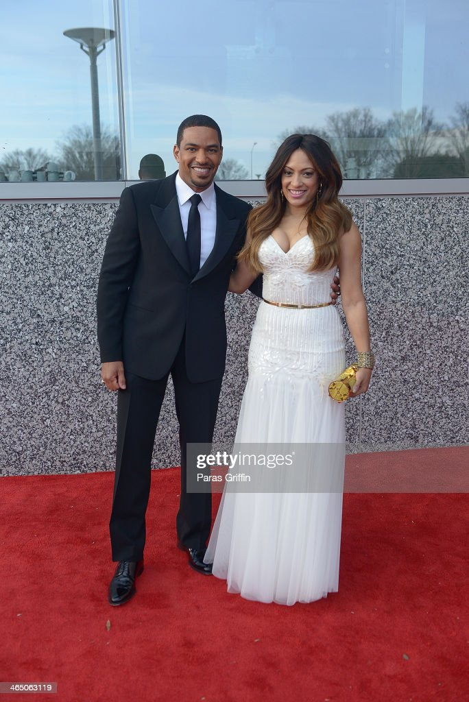 Trumpet Awards hosts <a gi-track='captionPersonalityLinkClicked' href=/galleries/search?phrase=Laz+Alonso&family=editorial&specificpeople=2179533 ng-click='$event.stopPropagation()'>Laz Alonso</a> and <a gi-track='captionPersonalityLinkClicked' href=/galleries/search?phrase=Melissa+De+Sousa&family=editorial&specificpeople=2982665 ng-click='$event.stopPropagation()'>Melissa De Sousa</a> arrives at the 2014 Trumpet Awards at Cobb Energy Performing Arts Center on January 25, 2014 in Atlanta, Georgia.