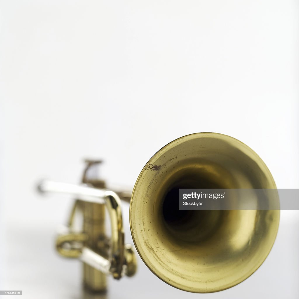 Trumpet, close-up