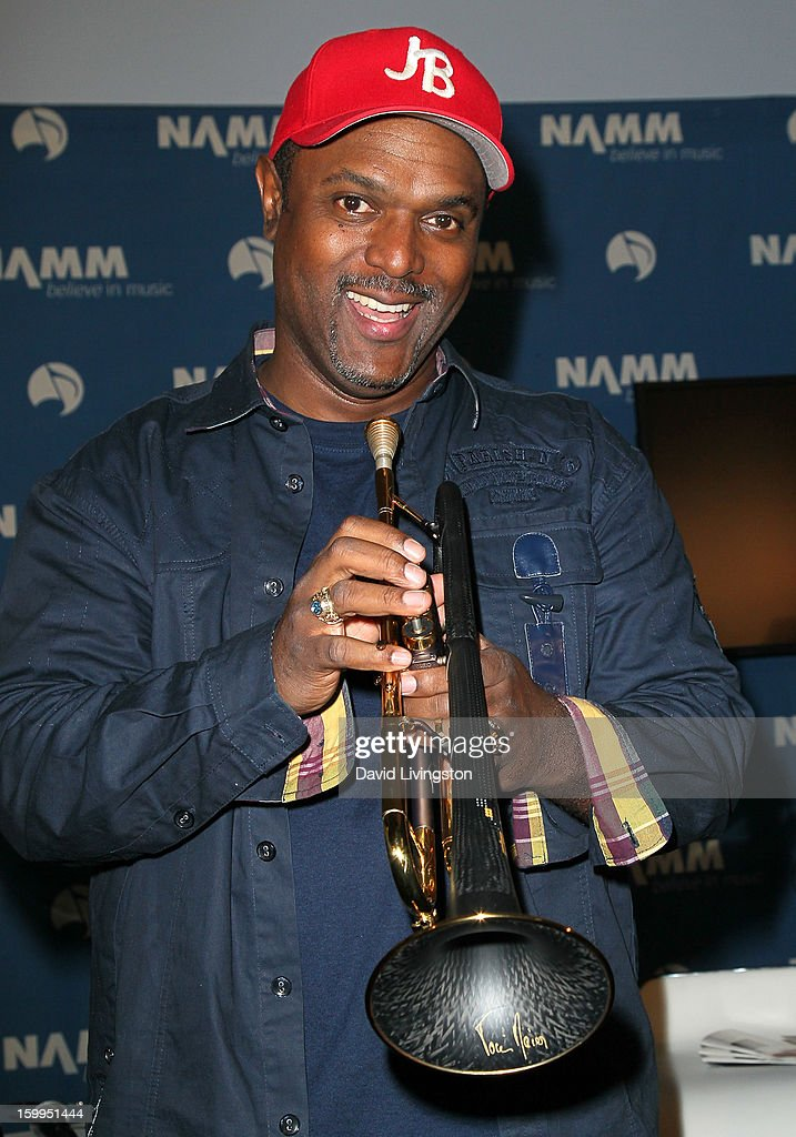 Trumpet player Jon Barnes attends the 2013 NAMM Show - Media Preview Day at the Anaheim Convention Center on January 23, 2013 in Anaheim, California.