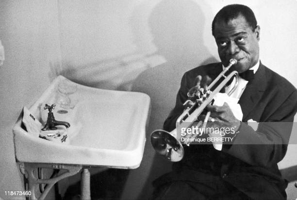 Trumpet player Louis Armstrong