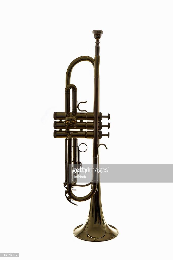 A trumpet, studio shot