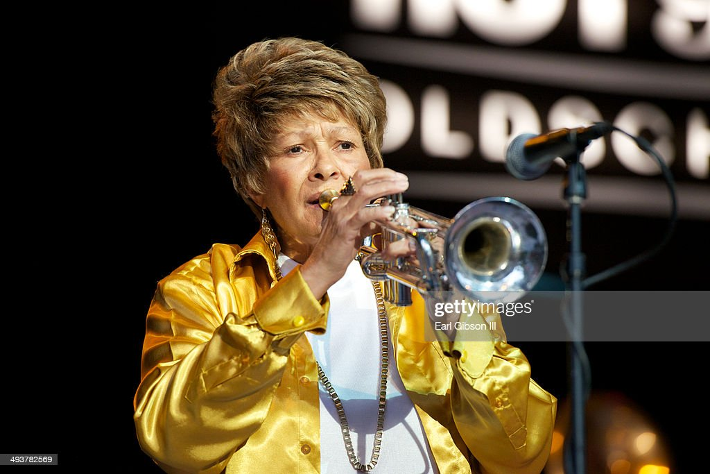 Trumpeter Cynthia Robinson performs with The Family Stone at The Greek Theatre on May 24, 2014 in Los Angeles, California.