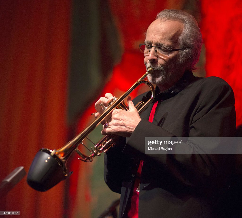Trumpeter <a gi-track='captionPersonalityLinkClicked' href=/galleries/search?phrase=Herb+Alpert&family=editorial&specificpeople=700404 ng-click='$event.stopPropagation()'>Herb Alpert</a> performs at <a gi-track='captionPersonalityLinkClicked' href=/galleries/search?phrase=Herb+Alpert&family=editorial&specificpeople=700404 ng-click='$event.stopPropagation()'>Herb Alpert</a> And Lani Hall Performance At Vibrato Grill at Vibrato Grill Jazz on March 19, 2014 in Beverly Hills, California.