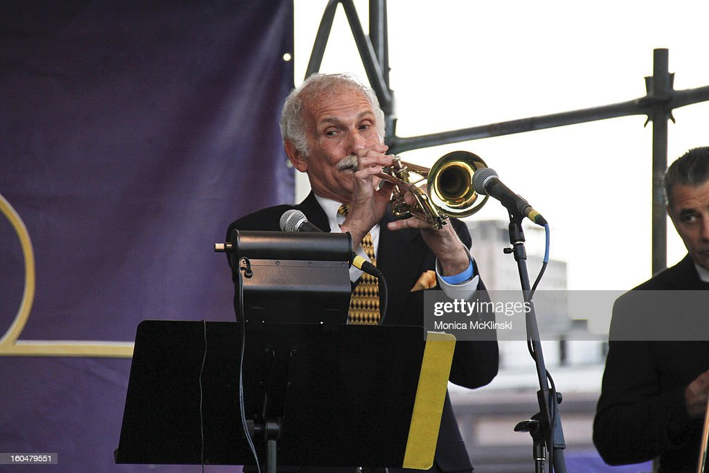 Trumpeter Jimmy LaRocca performs with The Original Dixieland Jazz Band during the Verizon Super Bowl Boulevard at Woldenberg Park on January 31, 2013 in New Orleans, Louisiana.