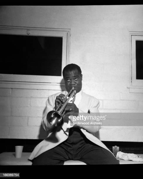 Trumpeter Louis Armstrong circa 1950