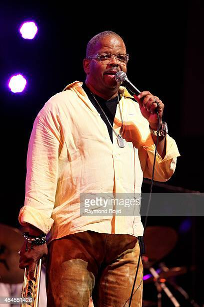 Trumpeter Terence Blanchard performs during the 36th Annual Chicago Jazz Festival at Millennium Park on August 29 2014 in Chicago Illinois