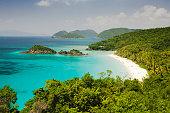 Trunk Bay at St. John Island in U. S. Virgin Islands
