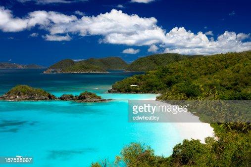 Trunk Bay beach, St. John, US Virgin Islands