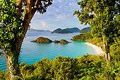 Trunk Bay, St. John, US Virgin Islands in the Caribbean