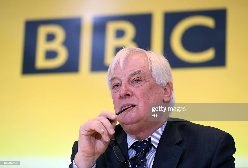 BBC Trust Chairman Chris Patten attends a press conference at BBC Broadcasting House in London on December 19, 2012 on the release of the Pollard Report into the BBC's handling of the child-sex abuse claims against late presenter Jimmy Savile. The report strongly criticised the BBC's handling of allegations of child sex abuse against Savile but cleared the corporation of a cover-up. The report sparked the resignation of the BBC's deputy director of news, Stephen Mitchell, and led to the editor and deputy editor of the current affairs programme Newsnight at the centre of the scandal being replaced.