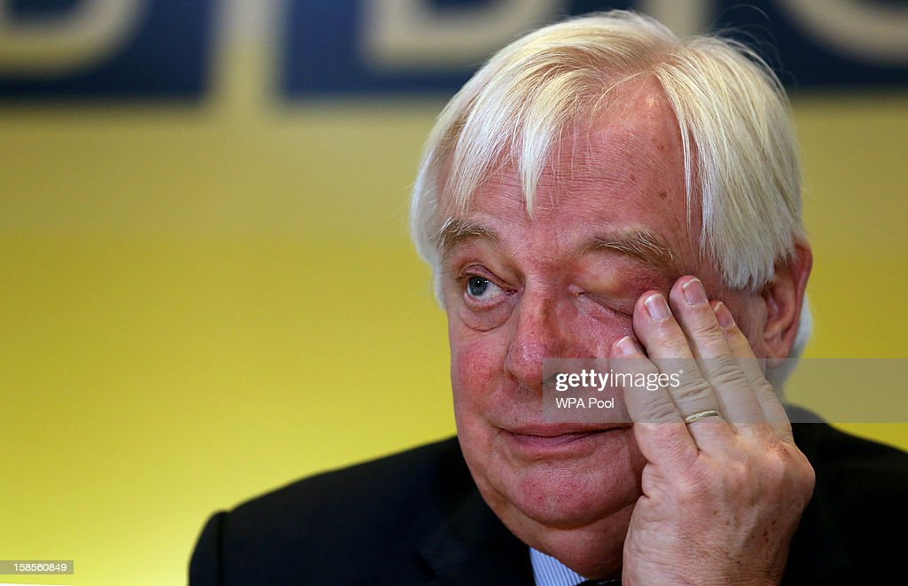 Trust Chairman Lord Patten responds to questions about the Pollard Review during a press conference at BBC Broadcasting House on December 19, 2012 in London, England. The BBC Trust has announced the findings of the Pollard Review into the corporation's handling of sexual abuse allegations against former employee Jimmy Savile.