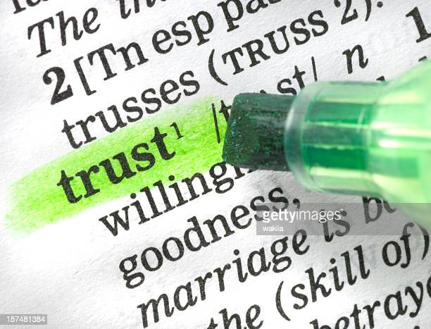 trust definition highligted in dictionary