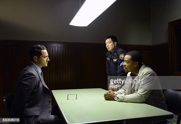 GRIMM 'Trust Me Knot' Episode 602 Pictured Sasha Roiz as Sean Renard Reggie Lee as Sergeant Wu Russell Hornsby