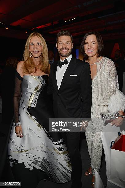 Trustee Jane Nathanson LACMA Trustee Ryan Seacrest and trustee Ann Colgin attend the LACMA 50th Anniversary Gala sponsored by Christie's at LACMA on...
