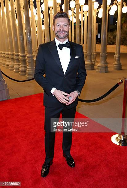 Trustee Ryan Seacrest attends the LACMA 50th Anniversary Gala sponsored by Christie's at LACMA on April 18 2015 in Los Angeles California