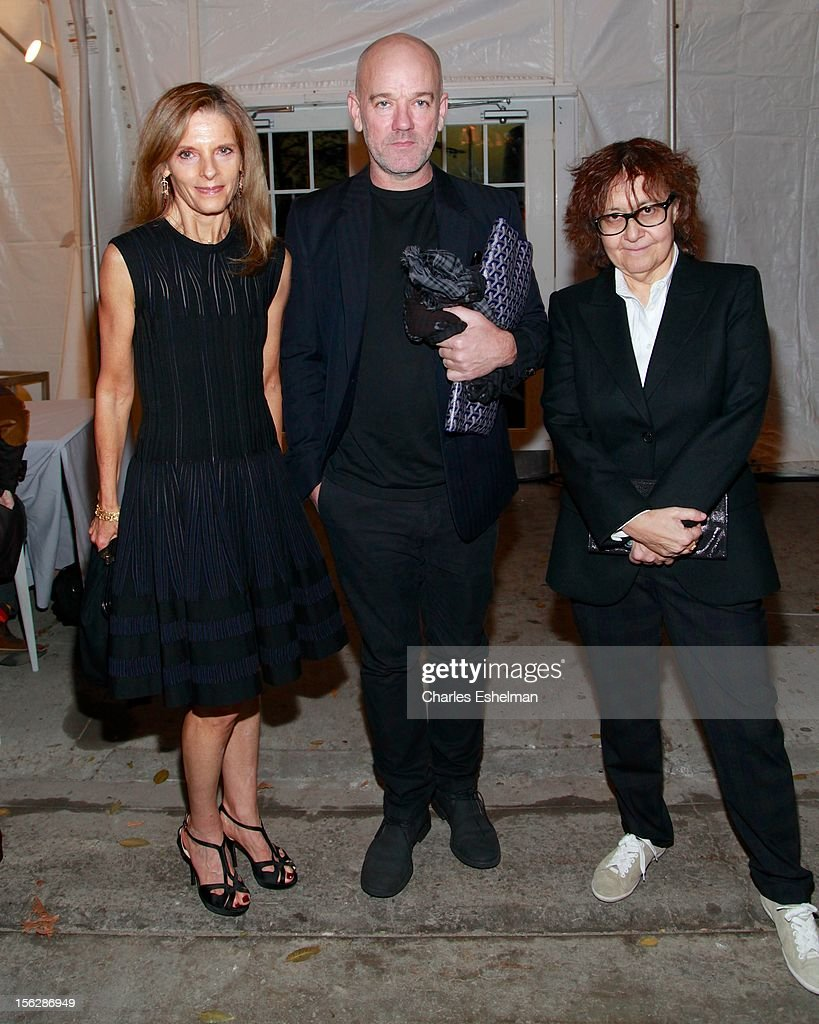 Trustree Sandra Brant, singer Michael Stipe and Ingrid Sischy attend the 2012 Dia Art Foundation's Gala at Dia Art Foundation on November 12, 2012 in New York City.