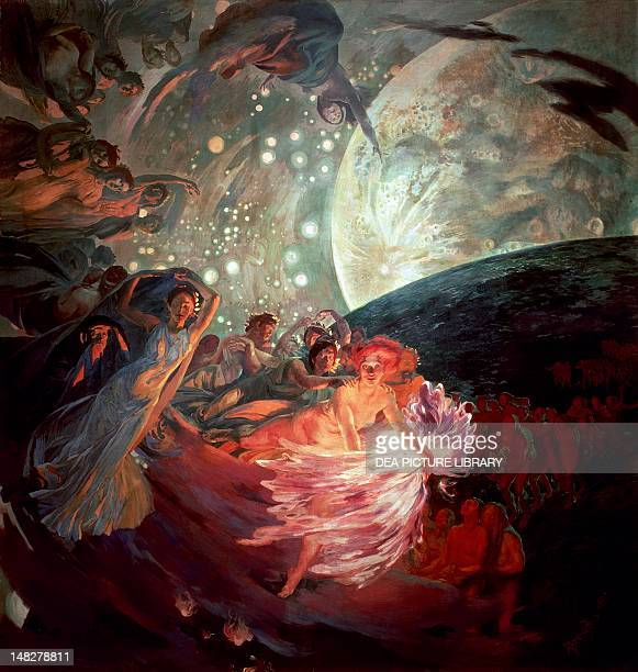 Truth dragging the sciences to illuminate men by Albert Besnard Ceiling of the Hall of Sciences Town Hall of Paris France