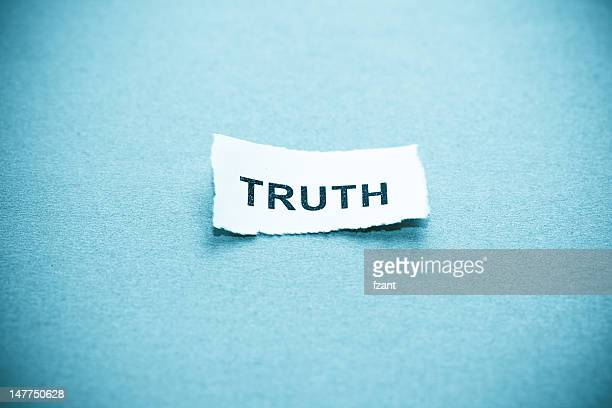 Truth text on curved paper