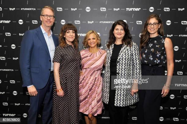 truTV President Chris Linn Writer/producer Jodi Lennon Creator/actor Amy Sedaris producer Cindy Caponera of 'At Home With Amy Sedaris' and EVP Head...