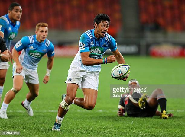 try scorer Melani Nanai of Blues during the Super Rugby match between Southern Kings and Blues at Nelson Mandela Bay Stadium on May 07 2016 in Port...