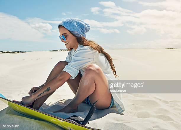 Provare sabbia imbarco per la prima volta,
