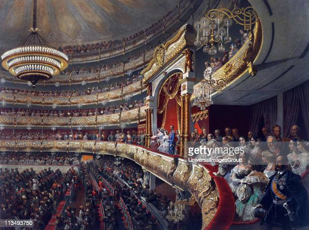 Tsar Alexander II attending a performance at the Bolshoi Theatre 1856 Source Alexander II by Mihaly Zichy