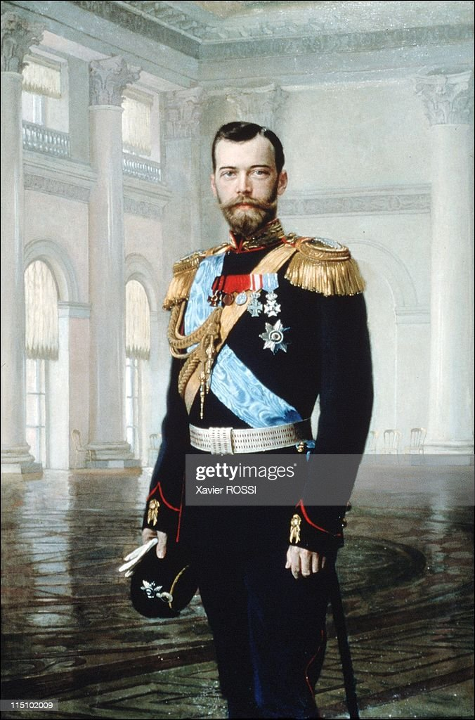 A Tsar in Compiegne exhibition, the 1901 visit of Tsar Nicholas II to France in Compiegne, France on October 19, 2001 - Portrait of Tzar Nicholas II by Von Liphart. (Museum of the palace of Tzarkoie-Selo).