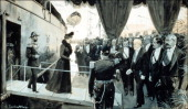 Tsar in Compiegne exhibition the 1901 visit of Tsar Nicholas II to France in Compiegne France on October 19 2001 Arrival of the Russian sovereigns in...