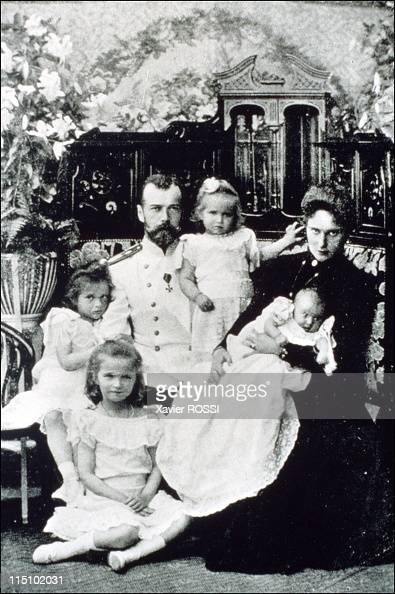 Tsar in Compiegne exhibition the 1901 visit of Tsar Nicholas II to France in Compiegne France on October 19 2001 The Tsar and Czarina after the birth...