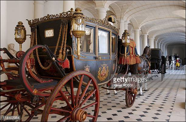 Tsar in Compiegne exhibition the 1901 visit of Tsar Nicholas II to France in Compiegne France on October 19 2001 Parade coach of the French...