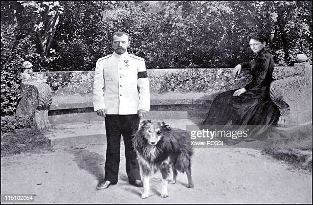 Tsar in Compiegne exhibition the 1901 visit of Tsar Nicholas II to France in Compiegne France on October 19 2001 The imperial couple in the gardens...