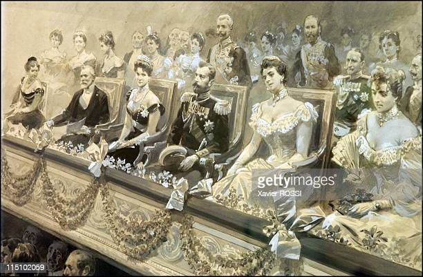Tsar in Compiegne exhibition the 1901 visit of Tsar Nicholas II to France in Compiegne France on October 19 2001 Gala representation at the Compiegne...