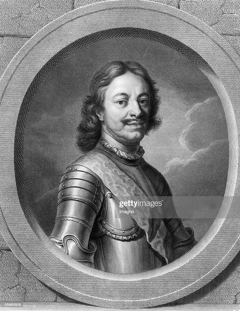 Tsar Peter I. the Great (1672-1725). Copper engraving. Russia. (Photo by Imagno/Getty Images) [Zar Peter I. der Grosse (1672-1725). Kupferstich. Russland.]