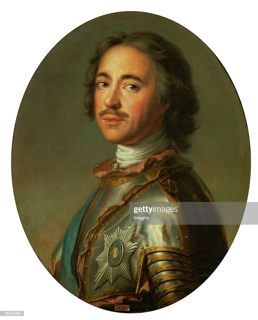 Tsar Peter the Great,1717. Canvas, 63 x 52 cm. By Jean-Marc Nattier (1685-1766). Musee National du Chateau, Versailles, France. (Photo by Imagno/Getty Images) [Zar Peter der Grosse, 1717. oel/Lwd. 63 x 52 cm. Von Jean-Marc Nattier (1685-1766). Musee National du Chateau, Versailles, Frankreich.]